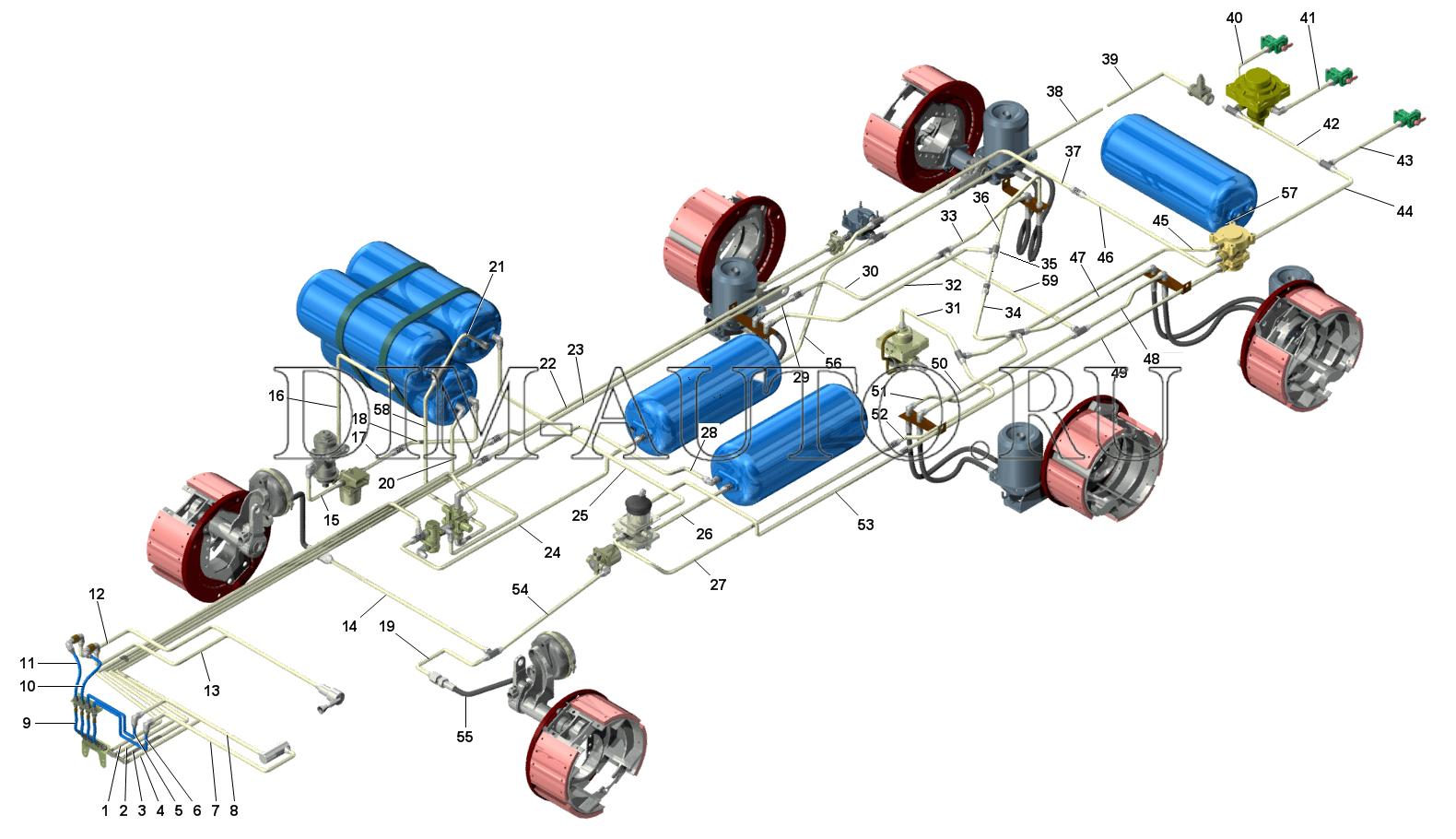 Камаз тормозные системы в картинках
