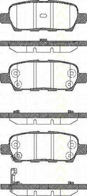 TRISCAN 8110 14022 Комплект тормозных колодок, дисковый тормоз для NISSAN QASHQAI (Ниссан Кашкай)