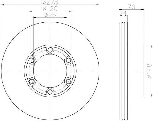 PAGID T1751 Комплект тормозных колодок, дисковый тормоз для NISSAN QASHQAI (Ниссан Кашкай)