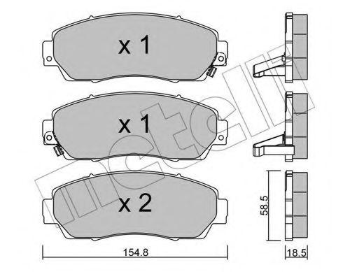 METELLI 22-0903-0 Комплект тормозных колодок, дисковый тормоз для GREAT WALL HOVER H6 (Грейтвол Хоvэр х6)