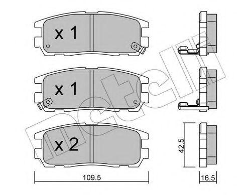 METELLI 22-0358-0 Комплект тормозных колодок, дисковый тормоз для GREAT WALL HOVER H6 (Грейтвол Хоvэр х6)