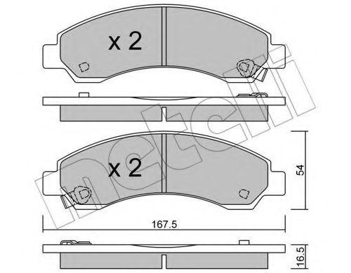 METELLI 22-0888-0 Комплект тормозных колодок, дисковый тормоз для GREAT WALL HOVER H6 (Грейтвол Хоvэр х6)