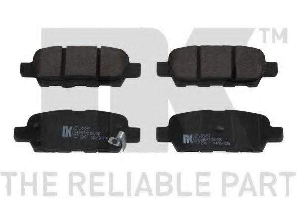 NK 222257 Комплект тормозных колодок, дисковый тормоз для NISSAN QASHQAI (Ниссан Кашкай)