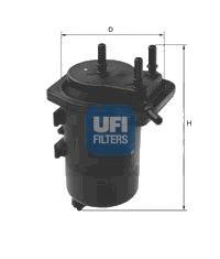 UFI 24.013.00 Топливный фильтр для NISSAN JUKE (Ниссан Джук)