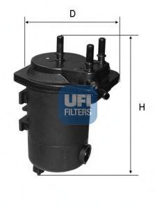 UFI 24.052.00 Топливный фильтр для NISSAN JUKE (Ниссан Джук)