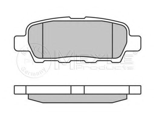 MEYLE 025 238 7114/W Комплект тормозных колодок, дисковый тормоз для NISSAN QASHQAI (Ниссан Кашкай)