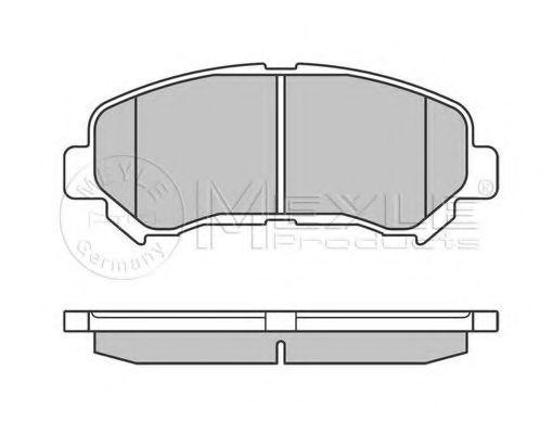 MEYLE 025 246 3217 Комплект тормозных колодок, дисковый тормоз для NISSAN QASHQAI (Ниссан Кашкай)