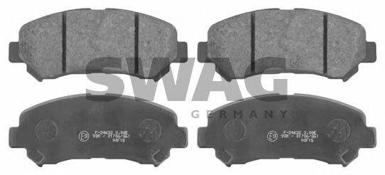 SWAG 82 91 6738 Комплект тормозных колодок, дисковый тормоз для NISSAN QASHQAI (Ниссан Кашкай)