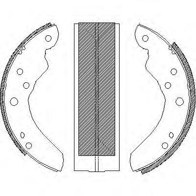 ROADHOUSE 2876.21 Комплект тормозных колодок, дисковый тормоз для NISSAN QASHQAI (Ниссан Кашкай)