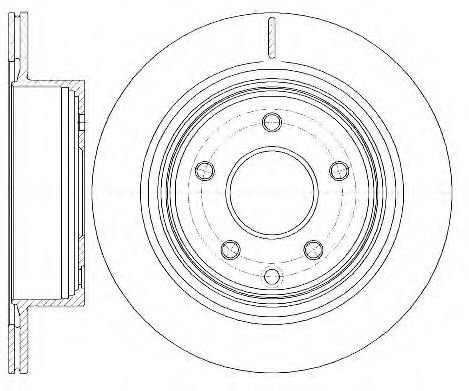 REMSA 6998.10 Тормозной диск для NISSAN QASHQAI (Ниссан Кашкай)