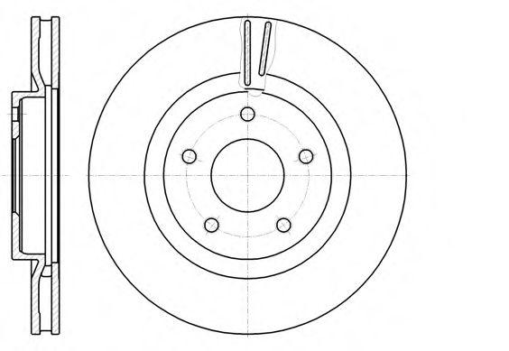REMSA 61087.10 Тормозной диск для NISSAN QASHQAI (Ниссан Кашкай)