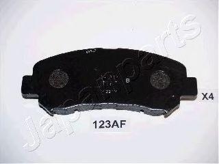 JAPANPARTS PA-123AF Комплект тормозных колодок, дисковый тормоз для NISSAN QASHQAI (Ниссан Кашкай)