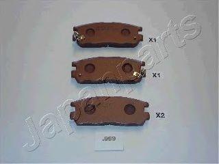 JAPANPARTS PP-999AF Комплект тормозных колодок, дисковый тормоз для GREAT WALL HOVER H5 (Грейтвол Ховер н5)