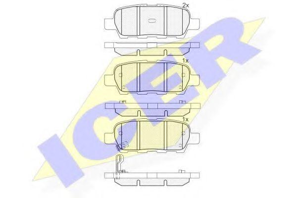 ICER 181509 Комплект тормозных колодок, дисковый тормоз для NISSAN QASHQAI (Ниссан Кашкай)