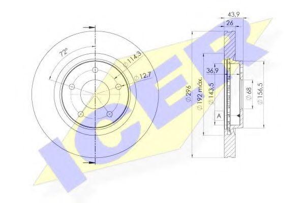 ICER 78BD2057-2 Тормозной диск для NISSAN QASHQAI (Ниссан Кашкай)