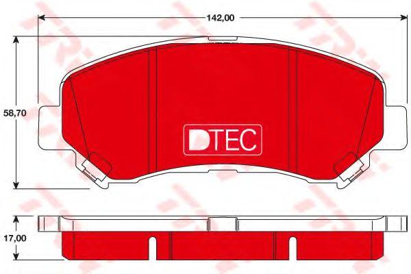 TRW GDB3467DTE Комплект тормозных колодок, дисковый тормоз для NISSAN QASHQAI (Ниссан Кашкай)