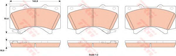 Комплект тормозных колодок, дисковый тормоз TOYOTA 0446535290