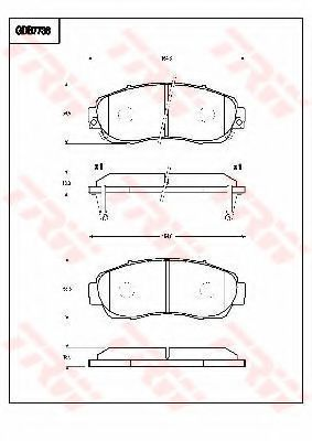 TRW GDB7738 Комплект тормозных колодок, дисковый тормоз для GREAT WALL HOVER H6 (Грейтвол Хоvэр х6)
