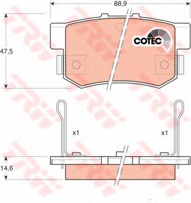 TRW GDB774 Комплект тормозных колодок, дисковый тормоз для GREAT WALL HOVER H6 (Грейтвол Хоvэр х6)