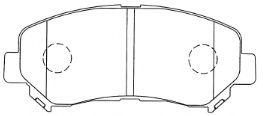 AISIN B1N094 Комплект тормозных колодок, дисковый тормоз для NISSAN QASHQAI (Ниссан Кашкай)