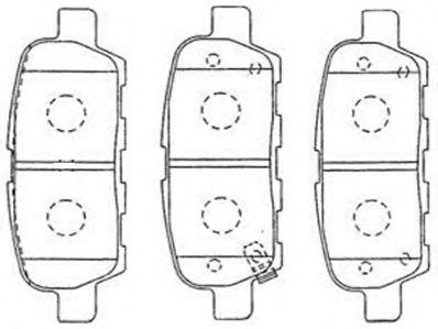 AISIN B2N095 Комплект тормозных колодок, дисковый тормоз для NISSAN QASHQAI (Ниссан Кашкай)