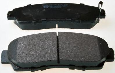DENCKERMANN B111299 Комплект тормозных колодок, дисковый тормоз для GREAT WALL HOVER H6 (Грейтвол Хоvэр х6)