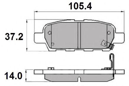 NATIONAL NP2071 Комплект тормозных колодок, дисковый тормоз для NISSAN QASHQAI (Ниссан Кашкай)