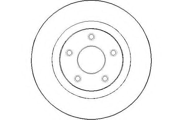 NATIONAL NBD1488 Тормозной диск для NISSAN QASHQAI (Ниссан Кашкай)
