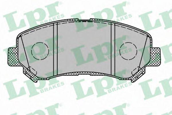 LPR 05P1314 Комплект тормозных колодок, дисковый тормоз передний мост для NISSAN QASHQAI (Ниссан Кашкай)