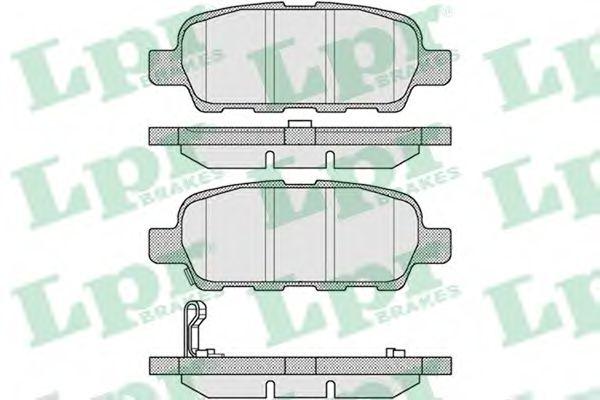 LPR 05P857 Комплект тормозных колодок, дисковый тормоз задний мост для NISSAN QASHQAI (Ниссан Кашкай)