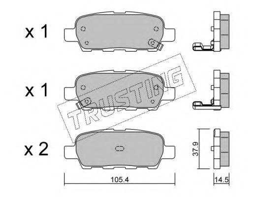 TRUSTING 628.0 Комплект тормозных колодок, дисковый тормоз для NISSAN QASHQAI (Ниссан Кашкай)