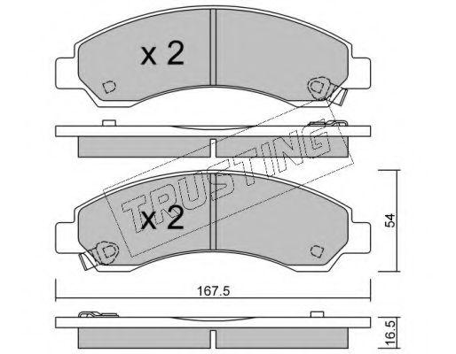 TRUSTING 905.0 Комплект тормозных колодок, дисковый тормоз для GREAT WALL HOVER H6 (Грейтвол Хоvэр х6)