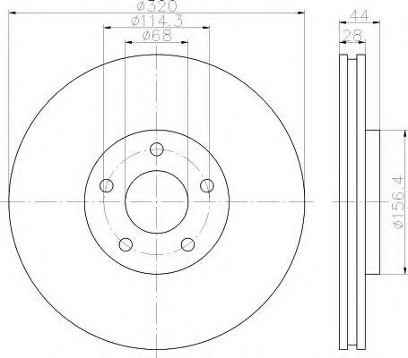 HELLA 8DD 355 116-761 Тормозной диск для NISSAN QASHQAI (Ниссан Кашкай)
