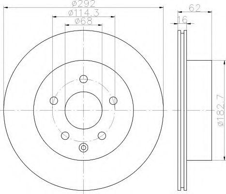 HELLA 8DD 355 118-711 Тормозной диск для NISSAN QASHQAI (Ниссан Кашкай)