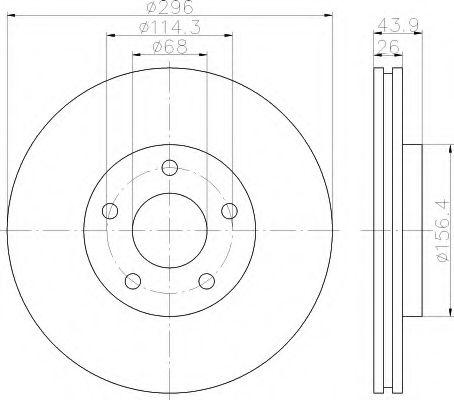 HELLA 8DD 355 114-601 Тормозной диск для NISSAN QASHQAI (Ниссан Кашкай)