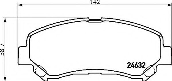 HELLA 8DB 355 013-781 Комплект тормозных колодок, дисковый тормоз для NISSAN QASHQAI (Ниссан Кашкай)