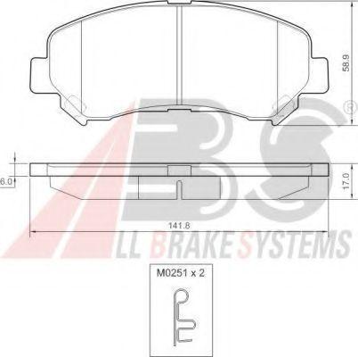A.B.S. 37625 Комплект тормозных колодок, дисковый тормоз для NISSAN QASHQAI (Ниссан Кашкай)