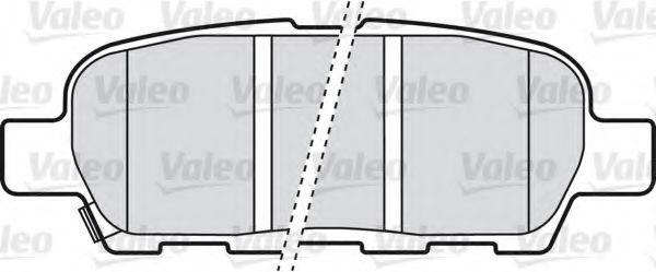 VALEO 598672 Комплект тормозных колодок, дисковый тормоз для NISSAN QASHQAI (Ниссан Кашкай)