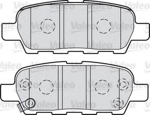 VALEO 601009 Комплект тормозных колодок, дисковый тормоз для NISSAN QASHQAI (Ниссан Кашкай)