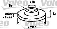 VALEO 197106 Тормозной диск для NISSAN QASHQAI (Ниссан Кашкай)