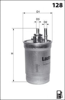 MECAFILTER ELG5469 Топливный фильтр для NISSAN JUKE (Ниссан Джук)