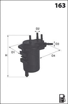 MECAFILTER ELG5298 Топливный фильтр для NISSAN JUKE (Ниссан Джук)