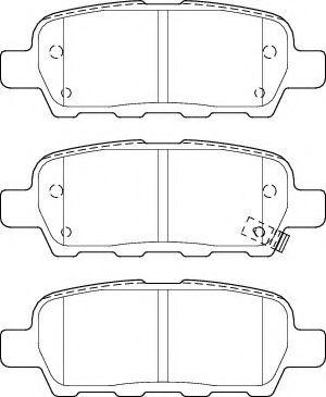NECTO FD7514A Комплект тормозных колодок, дисковый тормоз для NISSAN QASHQAI (Ниссан Кашкай)