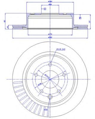 CAR 142.1277 Тормозной диск для NISSAN QASHQAI (Ниссан Кашкай)