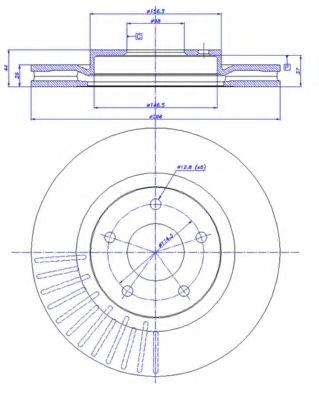 CAR 142.1320 Тормозной диск для NISSAN QASHQAI (Ниссан Кашкай)