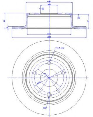 CAR 142.1321 Тормозной диск для NISSAN QASHQAI (Ниссан Кашкай)