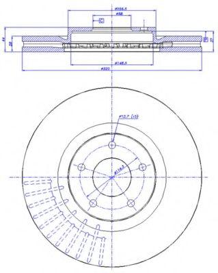 CAR 142.1474 Тормозной диск для NISSAN QASHQAI (Ниссан Кашкай)