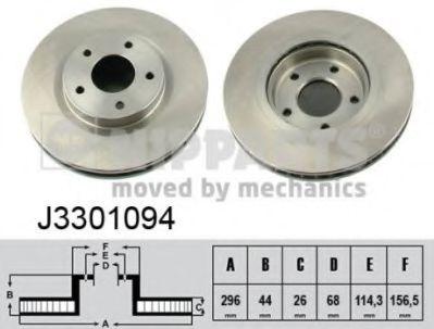 NIPPARTS J3301094 Тормозной диск для NISSAN QASHQAI (Ниссан Кашкай)