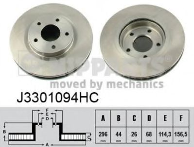 NIPPARTS J3301094HC Тормозной диск для NISSAN QASHQAI (Ниссан Кашкай)