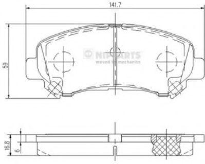 NIPPARTS J3601096 Комплект тормозных колодок, дисковый тормоз для NISSAN QASHQAI (Ниссан Кашкай)